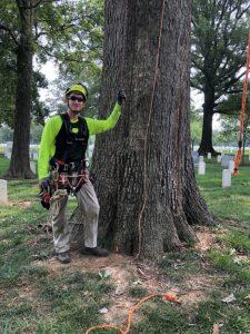 lightning protection installation at Arlington National Cemetery